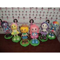 Turma Da Equestria Girls Em Eva 3d 23 Cm - Kit C/ 6