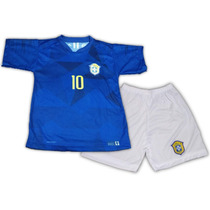 946a27419 Camisas de Futebol Camisas de Seleções Infantis Brasil com os ...