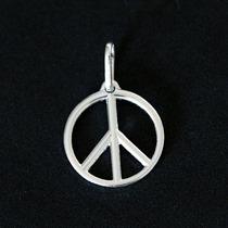 Pingente De Prata 925 Símbolo Da Paz