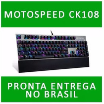 Kit Teclado Gamer Mecanico Motospeed Ck108 + Mouse V30