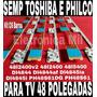 Kit 6 Barra Led Toshiba E Philco 48l2400 48l5400 Dl4844 Nova