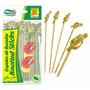 500 Unid Espeto Knotted Stick 15cm Bambu (nó)