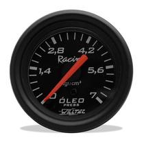 Relógio De Pressão Óleo Manômetro Willtec Preto 7 Kg 52mm