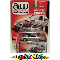 Auto World 1975 Pontiac Firebird Serie 4 Lacrado1:64borracha