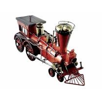 Trêm Maria Fumaça Locomotiva Miniatura Retrô Vintage
