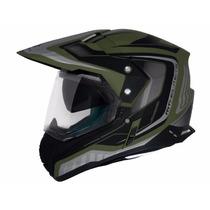 Capacete Mt Sv Duo Sport Cross Tourer Army Green/black
