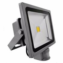 Refletor Led 30w Branco Frio Sensor Presença Uso Externo