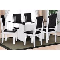 Mesa De Jantar Esmeralda Com 6 Cadeiras 100% Mdf