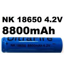 Bateria Recarregável 7800mah Profissional De Lítio 18650 Top