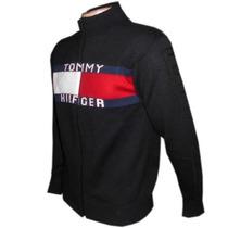 Blusa De Lá Tommy Sueter Com Ziper Masculino Envio Imediato.