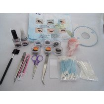 Kit Profissional Completo Para Alongamento Cílios Fio A Fio