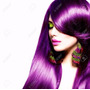 Aplique Tictac Alongamento Cabelo Mega Hair Roxo Liso