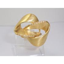 Boqueiraojoias Anel Gigante Laço 16 Diamantes Ouro 18k-750
