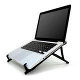 Base Suporte Notebook Regulável Preto Home Office Reliza