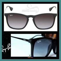 Óculos De Sol Rb4187 Chris Preto Degradê + Brinde