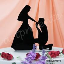 Topo De Bolo Noivinho Personalizado Casamento Decoração
