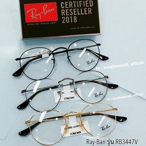 6783f69326a57 Oculos De Grau Ray Ban Rb3447 Round Redondo 50mm Unissex