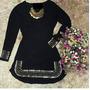 Vestido Pedraria Manga Longa Pedras Instagram Roupa Feminina