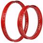 Par De Aro Colorido Para Moto Biz Ks Es + Pop 100 - Vermelho