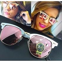 Óculos Clubmaster Aluminium 3507 Espelhado Prata Rosa Retro
