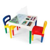 Mesinha Didática Infantil Com 2 Cadeiras Poliplac Com Nf