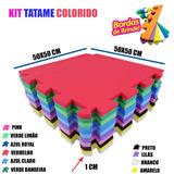 Kit 20 Un Tapete De Eva Tatame Escolar Infantil 50x50 10mm