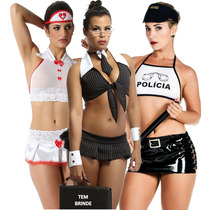d64171ebe Plus Size Fantasia Sexy Moda Feminina Kit 3 Uni Gg +brinde à venda ...