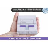 Mini Super Super Nintendo 2 Controles 8 Mil Jogos Ps1 + N64.