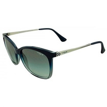 Óculos De Sol Vogue Azul E Transparente Lente Cinza