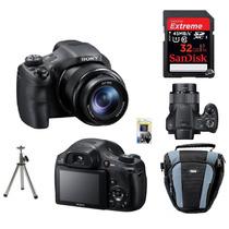 Câmera Sony Hx300+cartão 32gb(c/10)+tripé+kit Limpeza+bolsa