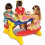 Mesa Infantil Em Plastico P/ Até 4 Crianças Super Resistente