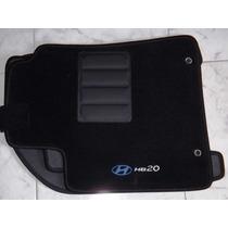 Jogo Tapete Carpete Base Borracha Hyundai Hb20 Até 2015
