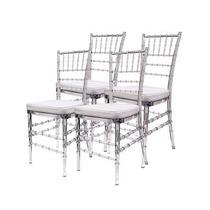 Jogo 4 Cadeira Cristal Tiffany Design Eventos Festas Aluguel