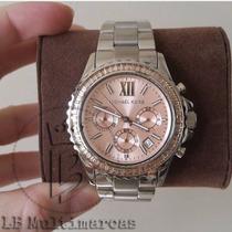 Relógio Michael Kors Prata Ouro Rose Original Originais Mk