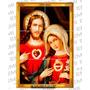 2549- Quadro Azulejo Sagrado Coração De Jesus E Maria