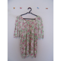 Blusa Feminina Floral Manguinhas Cód. 399