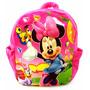 Mochila Infantil Pelúcia Minnie Personagem Disney