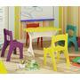 Conjunto Infantil Mesa E Cadeiras.