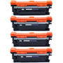 Kit 4 Cartucho Toner Compativel 507a Ce400a Ce401a Ce402a Ce403a Pro 500 M551 M575 M570 Bk C M Y 5.500 / 6.000 Copias Original