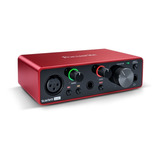 Interface De Áudio Usb Focusrite Scarlett Solo 3 Geração Original Envio 24h