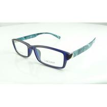 Armação Óculos De Grau Carolina Azul Fosco Unisex - A783