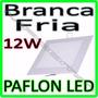 Luminaria Painel Plafon Led Embutir Ultra Slim Quadrado 12w