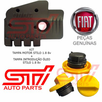 Kit Capa Motor Tampa Óleo Fiat Stilo 1.8 8v Novo Original
