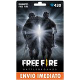 Free Fire 430 Diamantes +10% Bônus - Recarga P/ Conta