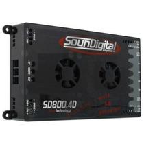 Módulo Amplificador Soundigital Sd800.4d Sd800.4 Sd800 Evo4