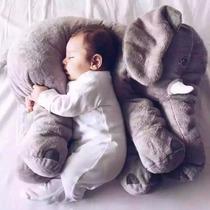 Elefante Pelúcia Bebe Dormir Almofada Travesseiro Cinza