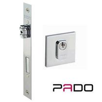 Fechadura Rolete Quadr. Inox Polido P/ Porta Pivotante Pado