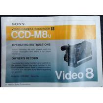 Sony Ccd-m8u - Vendo Peças E Parte