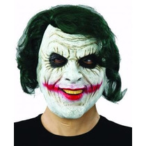 Máscara De Látex Coringa Batman Halloween Cosplay