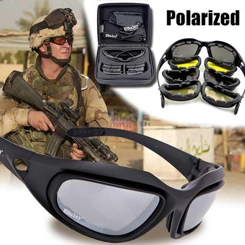 Óculos Militar Tático Tiro Prático Airsoft Daisy C5 Uv400 383a499e47